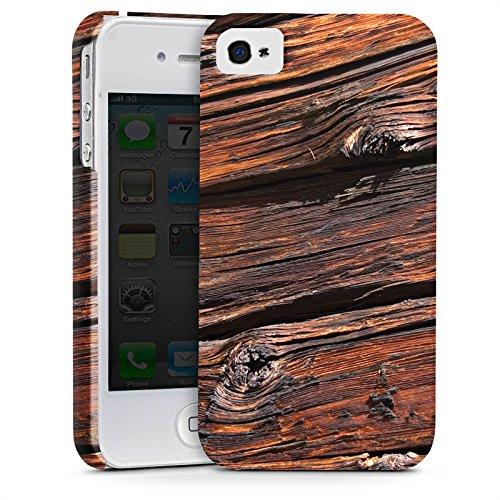 Apple iPhone X Silikon Hülle Case Schutzhülle Verwitterte Holzplanken Holz Look Holzboden Premium Case glänzend