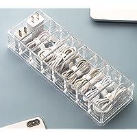 YunNasi Boîte de rangement pour câbles avec 10 attaches de câble Boîte de rangement avec 8 compartiments Boîte de…