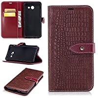 Galaxy J5 2017 Case - Ticase Premium PU Leather Wallet [3D Crocodile Skin Pattern] Magnetic Closure Case Viewing Stand Shockproof Cover for Samsung Galaxy J5 2017 (5.2