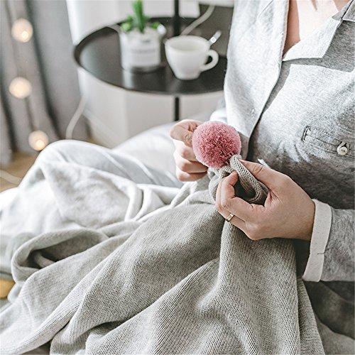 te weiche komfortable Sommer Klimaanlage Quilt handgemachte Sommer Baumwolle gestrickte Decke, Maschine waschbar 1 Stück,Kreative Ball Decke Hand stricken Decke 130x160cm (übergroße Strand Bälle)