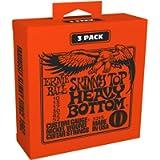 Ernie Ball P03215 Skinny Top Heavy Bottom Slinky Nickel Wound Electric Guitar Strings 3 Pack - 10-52 Gauge