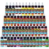 Solong Tattoo® Kit de 54colores juego completo de–tinta pigmento 1oz (30ml) profesional Kit de Tatuaje suministro para tatuajes ti301–30–54
