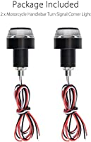 SHOPTOSHOP Bike Handle Bar End LED Blinker Indicator Light with Stylish Finish (Set Of 2)