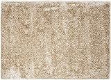 Zolta Teppich Plüsch Extra Weich und Modern Shaggy 160 x 230 cm Schwarz Microfaser (Beige)