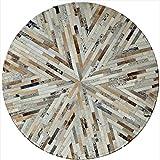 GWXDT Teppiche & Matten Teppich Kuhfell Runde Form Schlafzimmer Matte Wohnzimmer Haushaltsraum Teppich (Größe : 600mm)