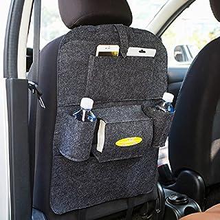 Rückenlehnenschutz Auto Filz Rücksitz Organizer für Kinder Wasserdichter Multifunktion Tasche Passend für iPads, Getränken oder Zeitschriften, Aufbewahrungsbeutel