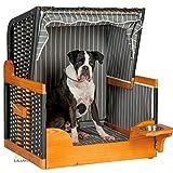 Hunde Strandkorb FELIX, anthrazit, mit Wassernapf, Hundekorb, Hundebett, von LILIMO ® - 4