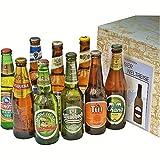 Premium Geschenkbox Biere der Welt verpackt im Präsentkarton + internationale Biere + Geschenk + Weihnachtsgeschenk + Geburtstagsgeschenk + Mitarbeitergeschenk + Hochzeitsgeschenk