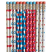 BoxedUpParty 12 Heart Printed Pencils
