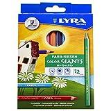 Lyra L3941120 - Astuccio 12 Pastelloni Color Giants Laccato