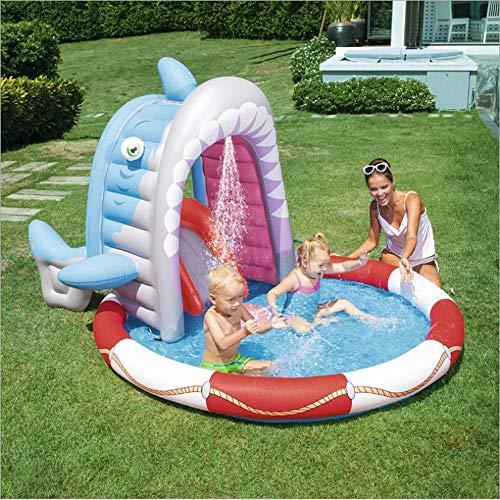 Sommer Neue Hai Spray Pool Aufblasbaren Pool, Baby Planschbecken Welle Ocean Ball Pool Sand Pool Badewanne,aufblasbare Spielzeuge A-236 * 198 * 140cm - Jungen Neue Wellen