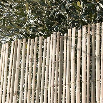 Primrose London rotolo formato da canne singole verticali di diametro variabile legate da un filo zincato orizzontale Paravento in canna di bamb/ù ideale per ricoprire pareti e recinzioni altezza 1,8 m rotolo da 1,9 m