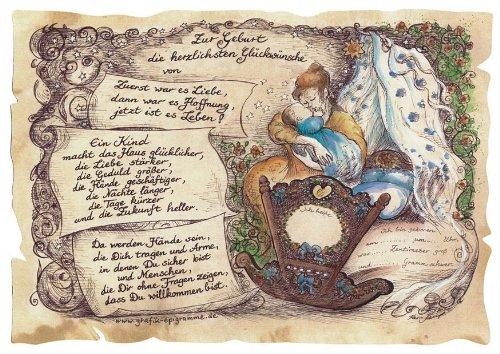 Gedicht zur Geburt Mutter Junge Gedichte Geschenk