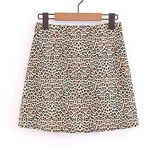 Damen Leopard Gedruckt Rock, Quaan Hoch Taille Sexy -