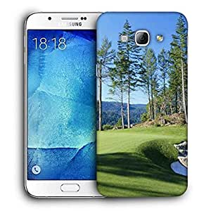 Snoogg Golf Park Printed Protective Phone Back Case Cover For Samsung Galaxy A8