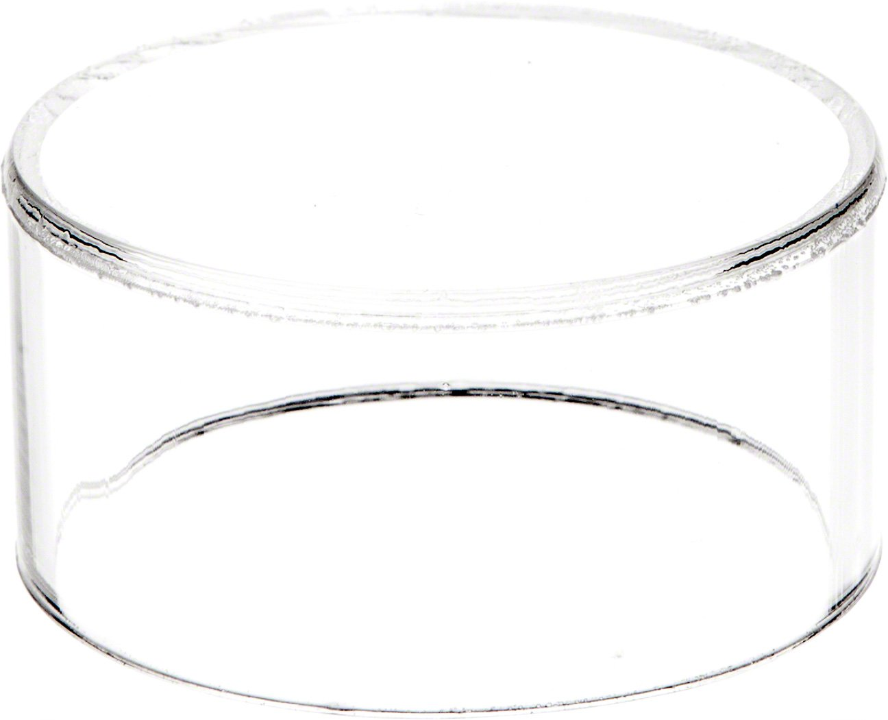 """4/"""" H x 7/"""" D Plymor Clear Acrylic Round Cylinder Display Riser"""