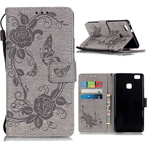 "Coque iPhone 6 Plus /iPhone 6S Plus (5.5""), Linvei® étui Housse iPhone 6 Plus/6S Plus Cuir étui with Silicone Protective Phone Case for iPhone 6 Plus/6S Plus - gris gris"