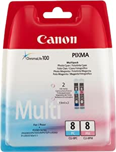 Canon Cli8 Ink Cartridge Multipack - Photo Cyan/ Photo Magenta