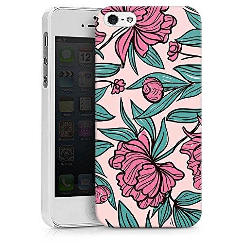 Apple iPhone X Silikon Hülle Case Schutzhülle Boho Blumen Sommer Hard Case weiß