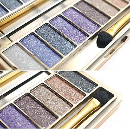 Tmalltide Natural Nudes Professional 9 Colors Diamond Bright Colorful Eye Shadow Super Flash Sparkling/Glitter Eyeshadow Colour Concealer Palette Gift Bundle