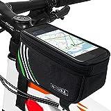 Yica Fahrrad Rahmentaschen, Fahrrad Rahmentaschen Handyhalter Fahrrad Tasche Lenkertasche mit Wasserdichte für iPhone7/7Plus/6s Plus/6 Plus/Samsung s7 Edge/S8 Andere bis zu 5,7 Zoll Smartphone