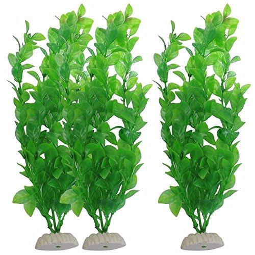 Interesting® 3 x künstliche Pflanzen Aquarium Fish Tank Ornament Dekoration Kunststoff Grünpflanze aquatische - Pflanzen Aquarium Realistische