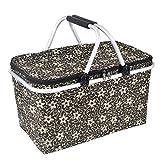 Dexinx Staubdicht Faltbarer Lunchbox Kühlung Einkaufskorb Isolierung Robust Picknick-Box Im Freien Kaffee 48*28*24cm