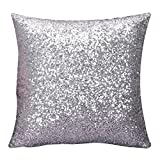 Susenstone®Solid Color Glitter Pailletten Dekokissen Fall
