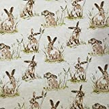 Stunning Designer Vintage Cotton Linen Look Fabric for