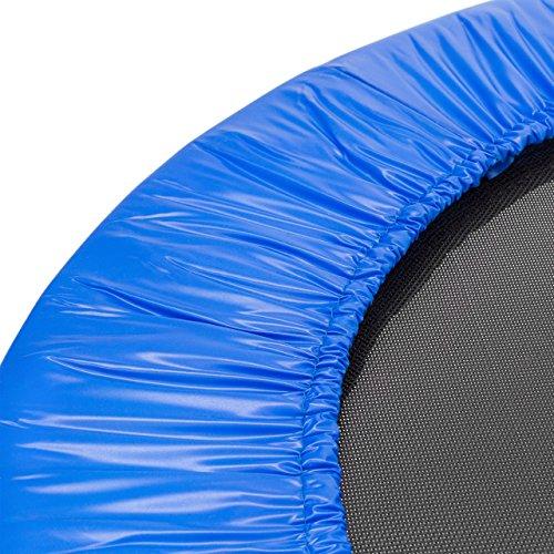 Relaxdays Fitness Trampolin, 91 cm Durchmesser, Indoortrampolin, belastbar bis 100 kg, Fitness und Ausdauertraining, blau - 5