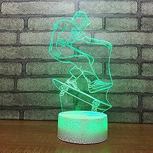 Yoppg 3D Illusion Lampe Led Nachtlicht Touch-Schalter 7 Farben Schreibtisch...