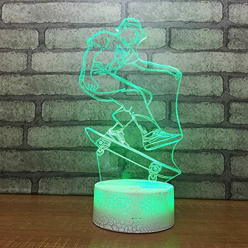 Yoppg 3D Illusion Lampe Led Nachtlicht Touch-Schalter 7 Farben Schreibtisch Optische Illusions Lampen Usb Or Batterie Betrieben Kind Weihnachtsgeschenk Sprungbrett