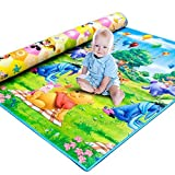 #2: Gison Waterproof Double Sided Baby Play Mat Child Activity Foam Floor Soft Kid Educational Toy Gift Gym Crawl Blanket Ocean Zoo Carpet-120 x 180cm (Multicolour)