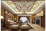 Weaeo 3D Wallpaper Benutzerdefinierte Mural Schönheit Vliestapete Antike Europäischen Stil Dekorative Muster Fresken An Der Decke Tapete-280X200Cm
