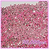 Beauties Factory 20, 000pcs 2mm PRO Rhinestones Crystals Round Beads For Acrylic Nails Gel Nail Art Tips Decoration- Light Pink 07 CODE: #406G