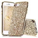 Slynmax Coque iPhone 8 Or Coque iPhone 7/8 Silicone Paillette Strass Brillante Bling...