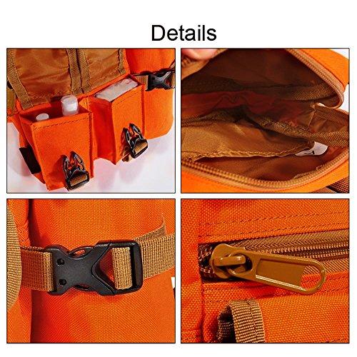 tonpar Taille Bag Multifunktions-Tactical Waist Pack Sports Taille Pack mit abnehmbaren Wasser Flaschenhalter Wasserdicht Hip Gürteltasche croci