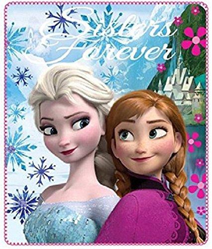 Disney Frozen Die Eiskönigin Anna und Elsa 'Freunde für Immer' Kuscheldecke Fleece 120x140cm