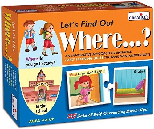 Stonkraft Englisch für Kinder im Vorschulalter - Lass es herausfinden - wo? | Lernspielzeug | Lernspiele | Zusammenpassende Spiele für Kinder und Kleinkinder (Vorschulalter Für Kinder Im Lernspielzeug)