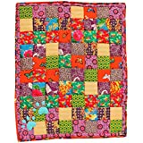 Summer Cotton Dog Mat/Dog Blanket in Patchwork (Butterfly Effect) - Medium-Large