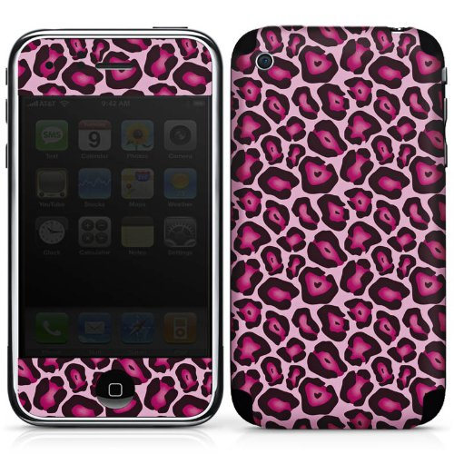 DeinDesign Apple iPhone 3Gs Folie Skin Sticker aus Vinyl-Folie Aufkleber Leo Pink Animal Print
