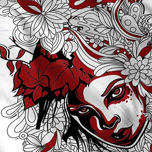 Mädchen Blume Power Dschungel Damen Schwarz S-2XL Muskelshirt | Wellcoda Weiß