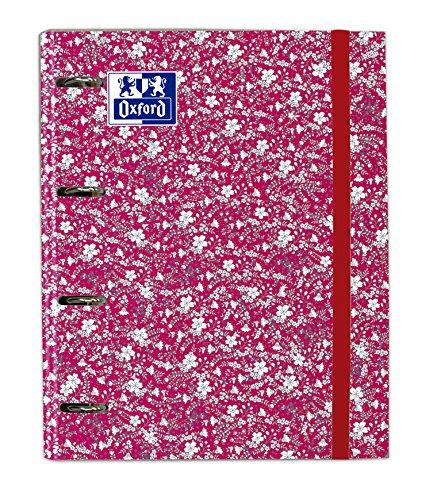 Oxford Floral, Carpeta con Recambio, Surtido Floral 4 Colores