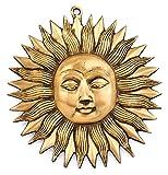 TEMPELWELT Wanddeko Sonne Symbol aus Messing, Ø 19cm, Deko Wandsymbol Feng Shui Solarplexus