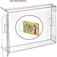 WICAREYO 10Pcs Clear Case Boîtier CIB Protecteur pour NES Jeux Cartridge Box