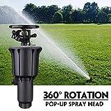 In die Wiese integrierter Sprinkler Hochdruck 360 ° Rotationsbewässerung Automatisches Besprühen des Sprühkopfes