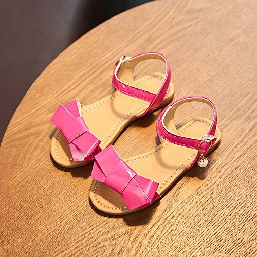 Scothen Les filles sandales sandales strappy été chaussures sport sandales chaussures plage sandales spartiates chaussures princesse flip-flops sandales enfants espadrilles Chaussures ballerine Rose-Rouge