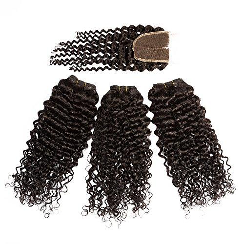 La Vogue 2PCS 12inch Extensions de Cheveux Noir Longue Perruque Ondulés Femme Petite Vague Coiffures Africaines