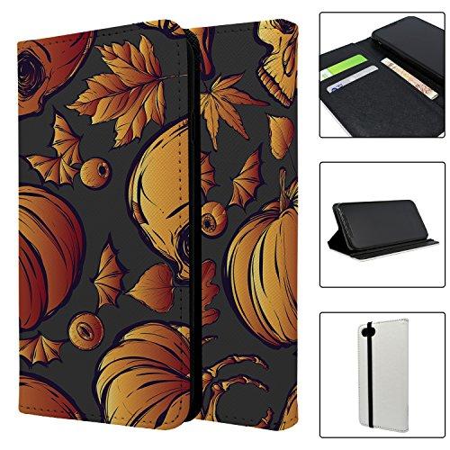 Halloween Kürbis Muster Full Flip Case Schutzhülle für für Apple iPhone 8–S4021