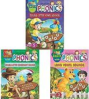 Learn With Phonics Book - 5 + Learn With Phonics Book - 4 + Learn With Phonics Book - 3 (Set of 3 Books)